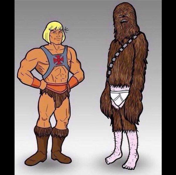 Musclor et Chewbacca