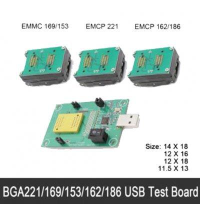 eMMC programmer adapter reader BGA169/153/162/186/221