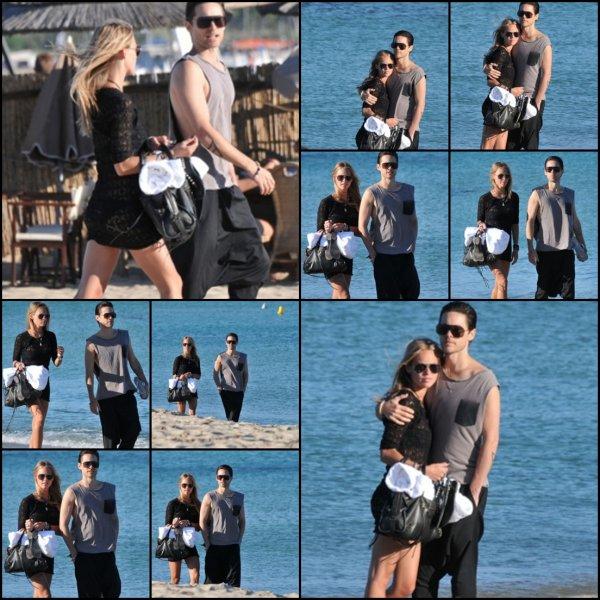 * 18 Juillet :  Jared et Katharina Damm sur la plage de St Tropez