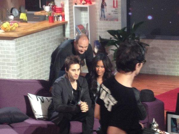 """Interview de jared faite cette après midi sur france 24  et quelque photo de l""""interview cher cauet diffusé  le 3 décembre"""