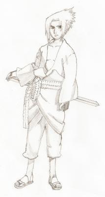 Sasuke Uchiha Shippuden Dessin Art Naruto