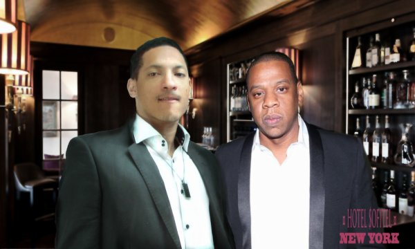 Micgistick and jay Z au sofitel hotel à new york
