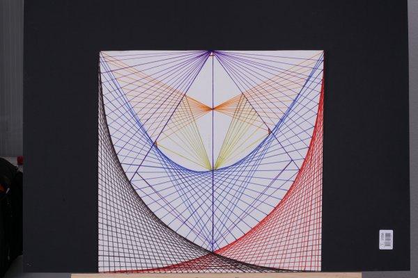 """Mes deux petits dessins d'après un projet """"l'univers dans la tête d'une épingle"""", de Maurice Benayou. Improvisation- 1journée et demie pour aboutir."""