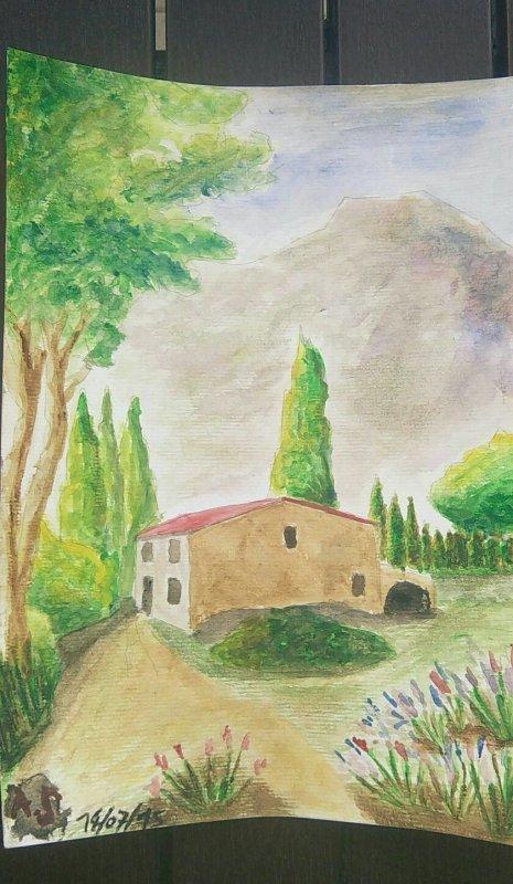 Mon premier tableau:) (Provence)