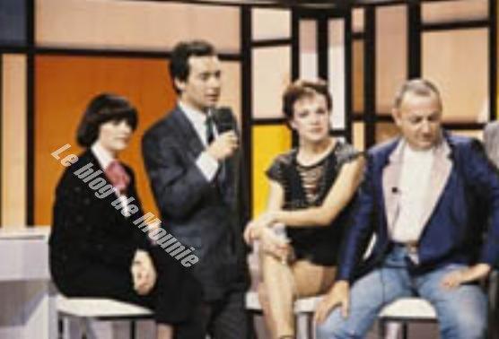 Mireille, Michel Denisot et Coluche