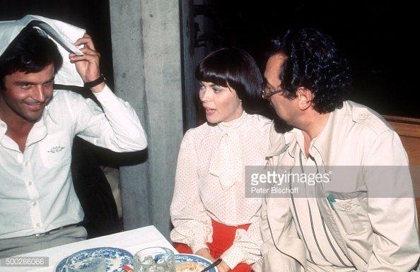 H Gangel caméraman, Mireille Mathieu et Ekkehard Böhmer Régisseur, en Allemagne en 1977