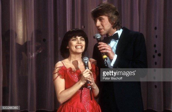 Mireille et le chanteur allemand Roland Kaiser