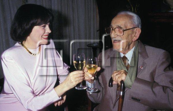 Mireille Mathieu et Charles Vanel