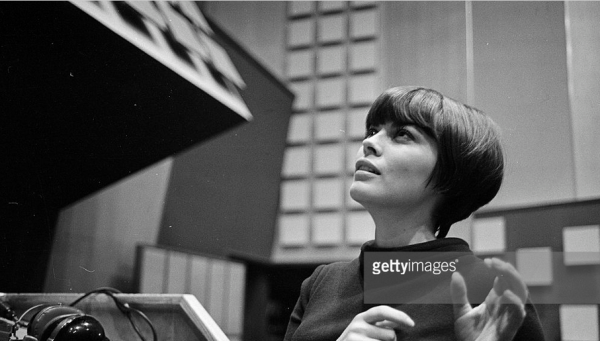 En studio d'enregistrement en 1968