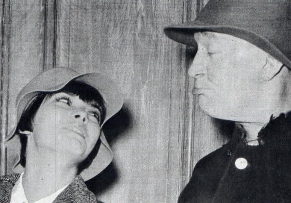 Mireille Mathieu et Maurice Chevalier
