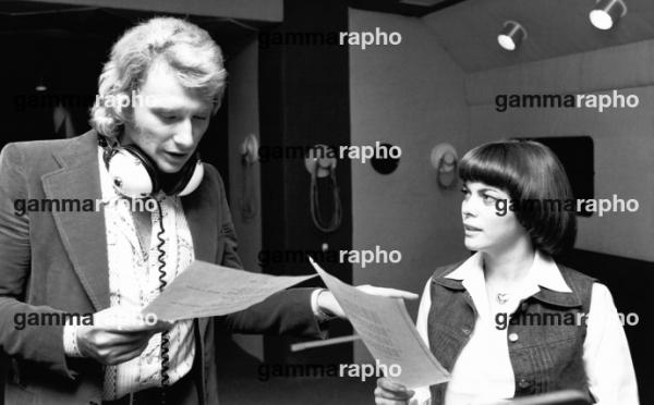 Johnny Hallyday et Mireille Mathieu en 1974