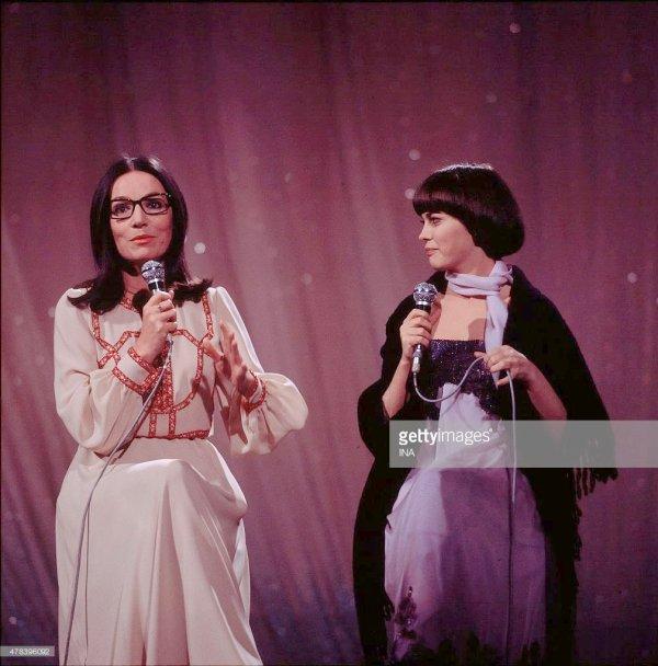 Mireille Mathieu et Nana Mouskouri