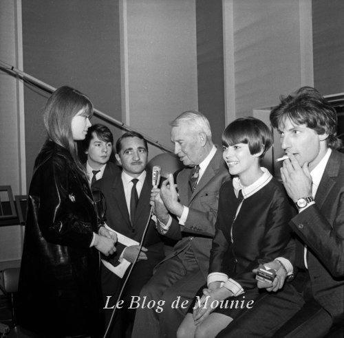 Françoise Hardy, Monty, Jean Bardin, Maurice Chevalier, Mireille Mathieu et Hugues Aufray