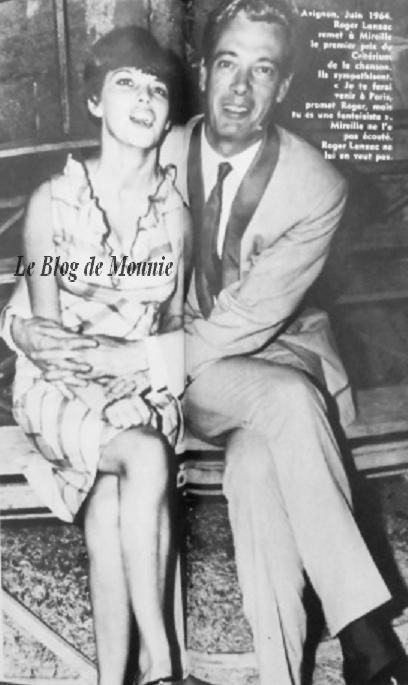 Mireille Mathieu et Roger Lanzac