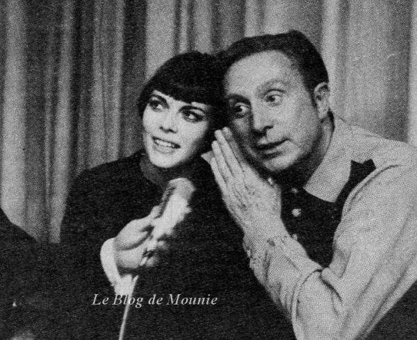 Mireille Mathieu et Charles Trénet