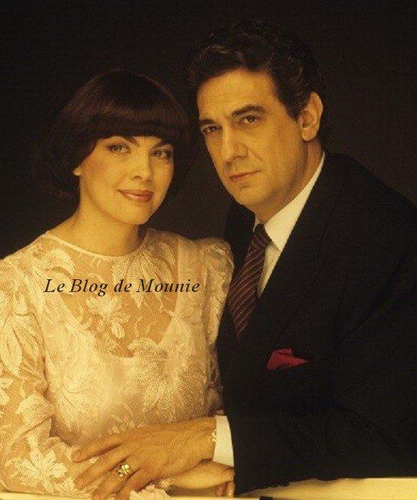 Mireille Mathieu et Placido Domingo