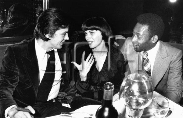 Alain Delon,  Mireille Mathieu et Pelé