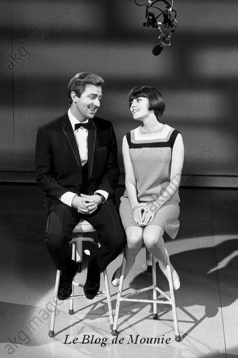 Des O'Connor et Mireille Mathieu dans un show anglais