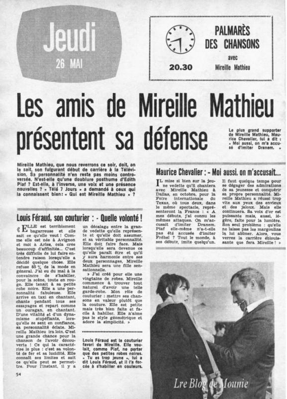 Article de Télé 7 Jours (1966)
