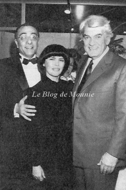 Yves Mourousi, Mireille Mathieu et Jean Marais