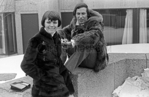 Mireille Mathieu et le chanteur Québécois Jean-Pierre Ferland
