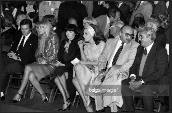 Alain Delon, Mireille Darc, Mireille Mathieu, Claudine Coster et Henri Verneuil