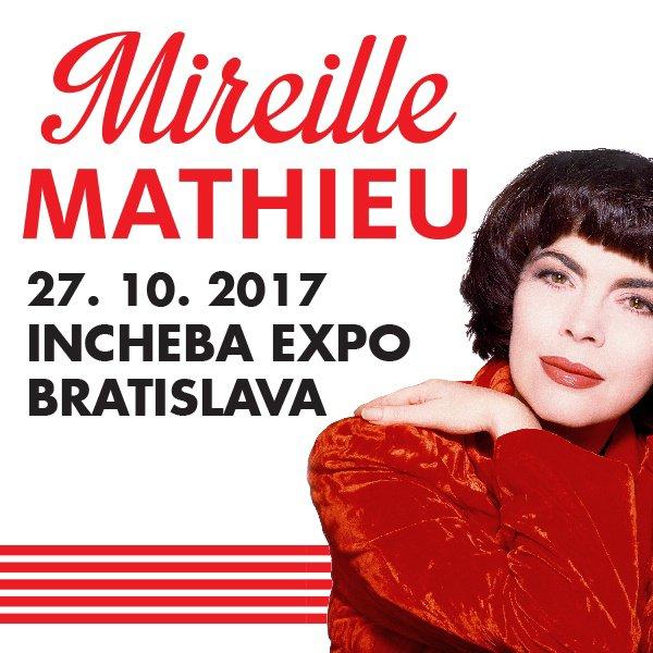Mireille en concert ce 27 octobre 2017 à Bratislava