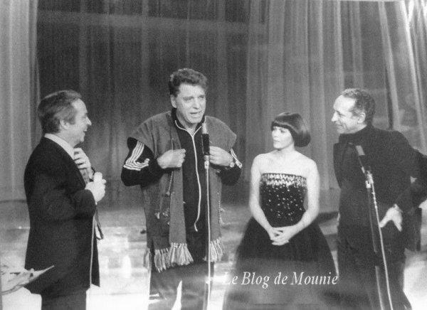 Guy Lux,  Burt Lancaster et Mireille Mathieu