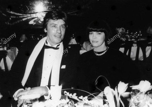 Alain Delon et Mireille Mathieu