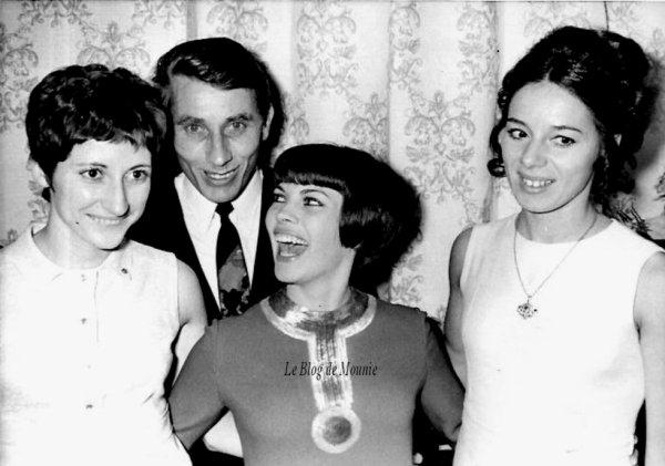 Jacques Anquetil, Mireille Mathieu et Colette Besson