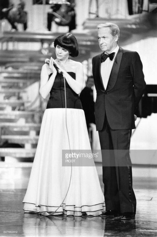 Mireille Mathieu et Guy Lux