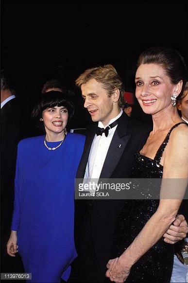 Mireille Mathieu Mikhail Barychnikov et Audrey Hepburn
