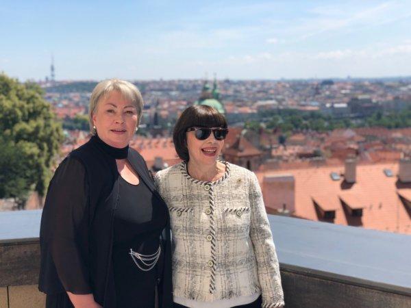 Rencontre à Prague avec le président et la première dame de La république Tchèque