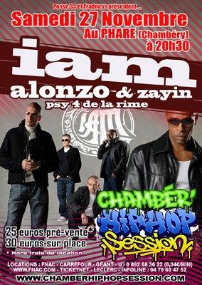 IAM / Alonzo / Zayin en concert le 27/11/10 à 20 h 30