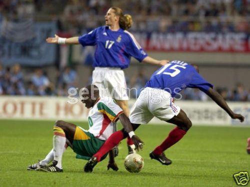 Maillot port par e petit contre le senegal coupe du - Equipe de france coupe du monde 2002 ...