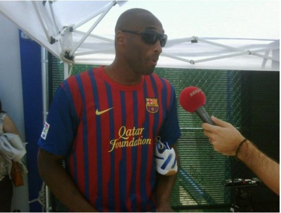 Kobe Bryant en mode Barça (photo)