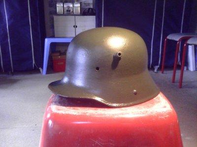 "Coque de casque allemand ""Stahlhelm"" M1916 ,de fouille"