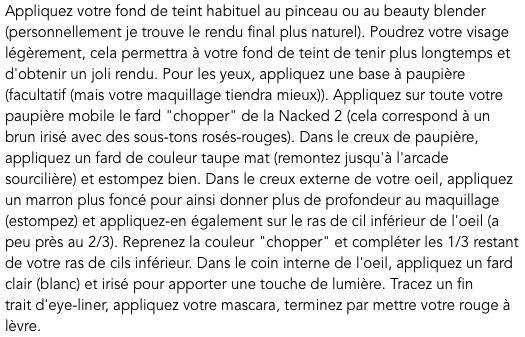 MAKEUP - Look romantique avec la Naked 2