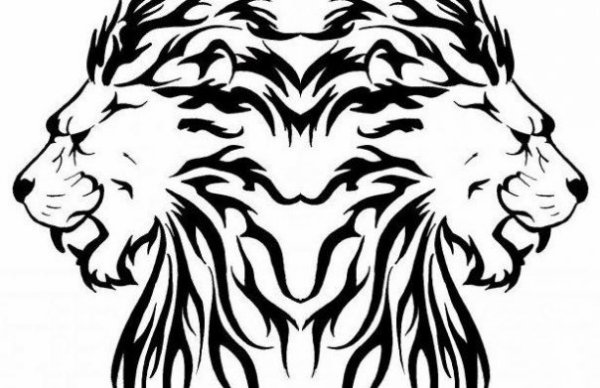 Tribal lion vieux dessin skizoo socrate akhenaton susanoo - Dessin tribal simple ...