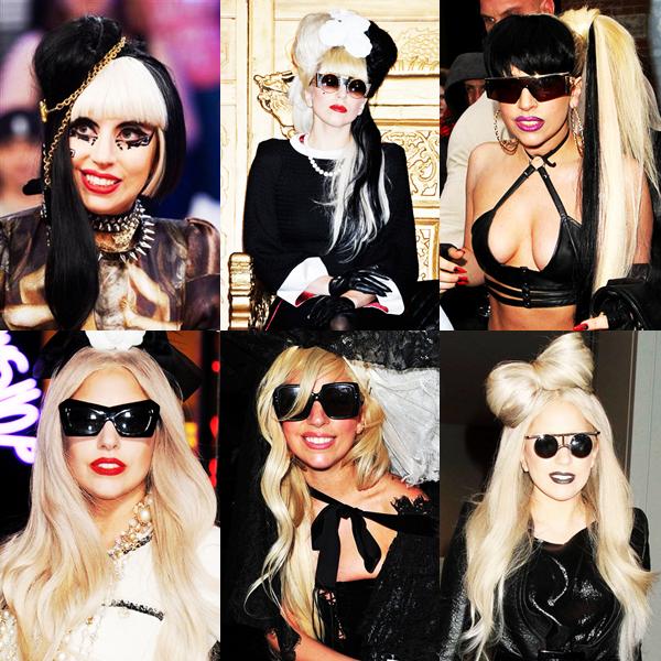 """En attendant les news de Miss Gaga je vous propose de découvrir ses (nombreuses) coupe de cheveux ! Le moins que l'on puisse dire c'est qu'elle sont colorée (Bleu, Marron, Rose, Jaune """"poussin"""",...) Quelle est votre coupe favorite, aimez-vous la couleur de ses cheveux ?"""