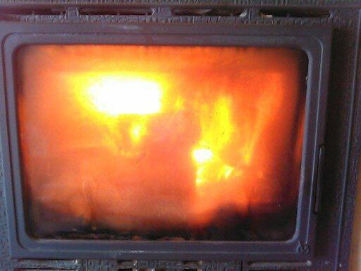 un petit feu de bois