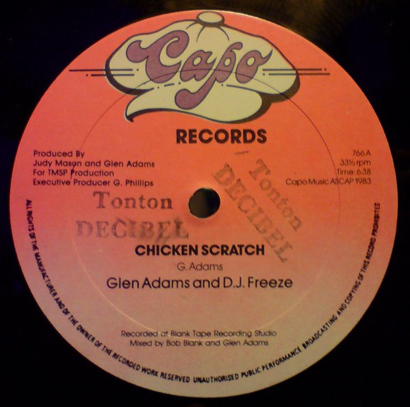 RIP TO Glen Adams / Glen Adams & DJ Freeze  - Chicken Scratch - capo rec.