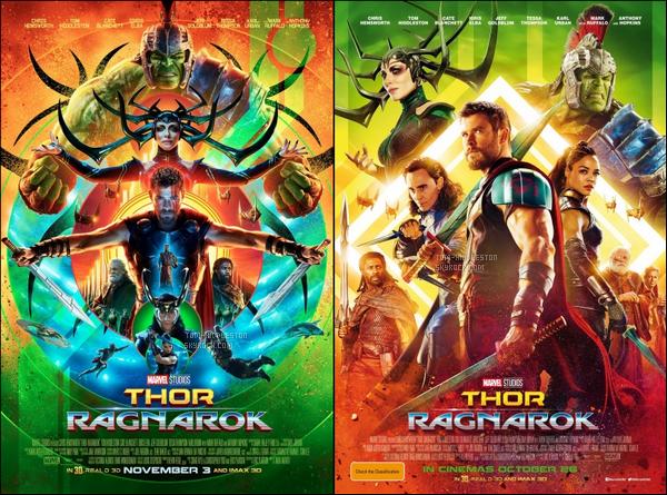 """•Découvre les posters ou Loki apparaît pour """"Thor Ragnarok"""", Sortie : Octobre 2017"""