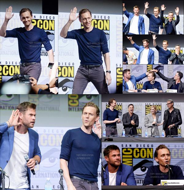 22.07.2017 : Tom Hiddleston et tout le cast de Thor Ragnarok étaient présent au Comic Con de San Diego