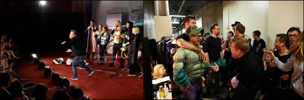 . • CHEZ JAMES CORDEN ─  Tom et le cast de Thor Ragnarok étaient chez James Corden .