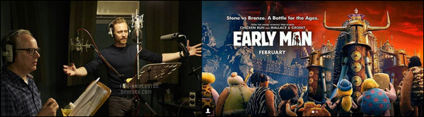 . •  EARLY MAN ─ le 12.01.2018 - Tom était à la première de Early Man ou il y incarne la voix de Nooth .