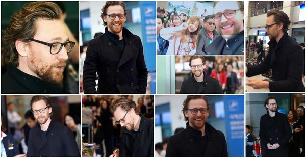 11.04.2018 : Tom  très souriant et magnifique a été aperçu arrivant à l'aéroport de Incheon en Corée du Sud