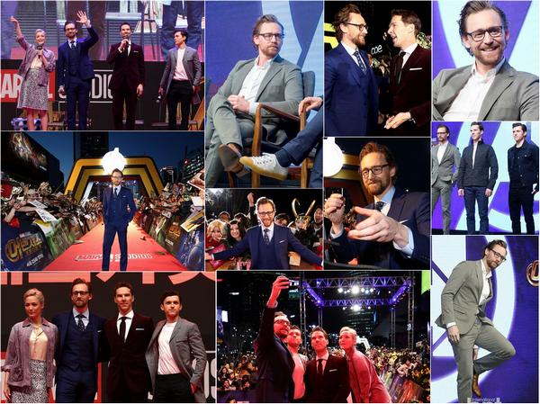 12.04.2018 : Tom  continue a assurer la promo de Avengers Infinity War  à Séoul en  Corée du Sud