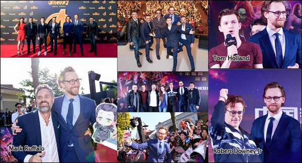 19 Avril 2018 :  Tom Hiddleston  continue la promo du nouveau Avengers Infinity War à Shanghaï en Chine