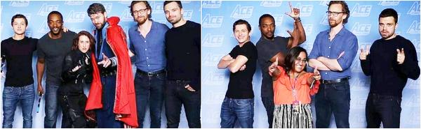 22.06.2018 : Tom était avec Sebastian Stan et Tom Holland au « ACE COMIC CON » où il a posé avec des fans
